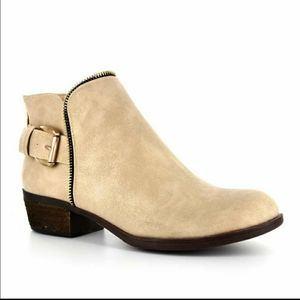Corkys Adrienne Taupe Buckle Booties